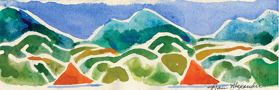 Mountains Painting - High Mountains And Meadows by Annie Alexander