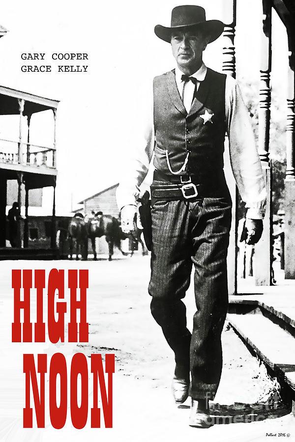 High Noon Mixed Media - High Noon, Gary Cooper by Thomas Pollart