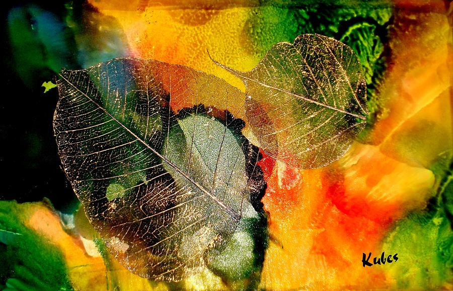 Abstract Mixed Media - High on Nature by Susan Kubes