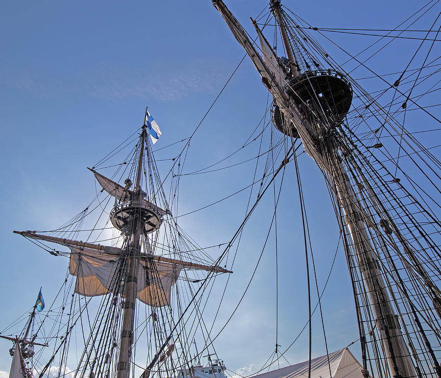 Swedish Photograph - High On The Foremast by Allan Levin