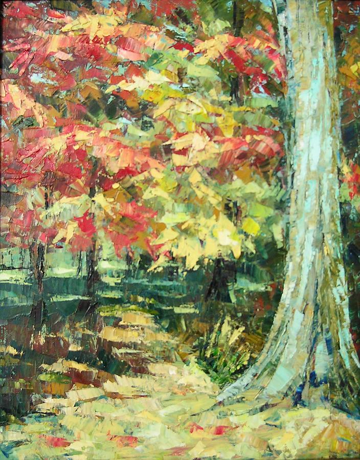 Landscape Painting - High Park by Keren  Gorzhaltsan
