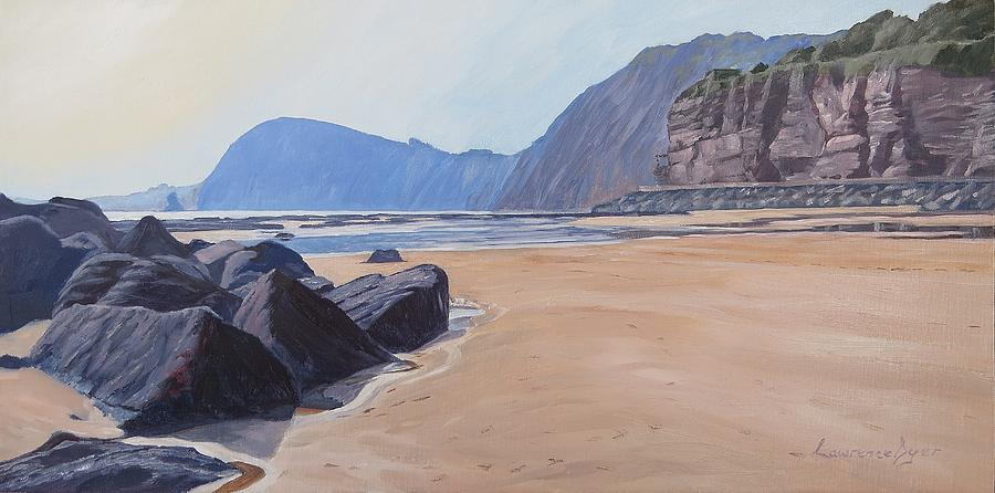 Sidmouth Painting - High Peak Cliff Sidmouth by Lawrence Dyer