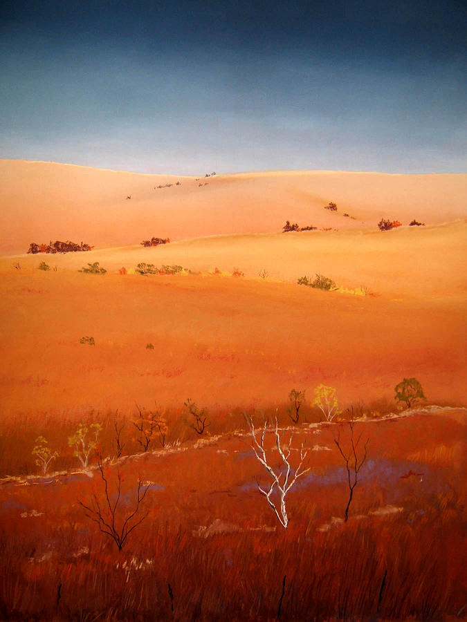Landscape Pastel - High Plains Hills by William Renzulli