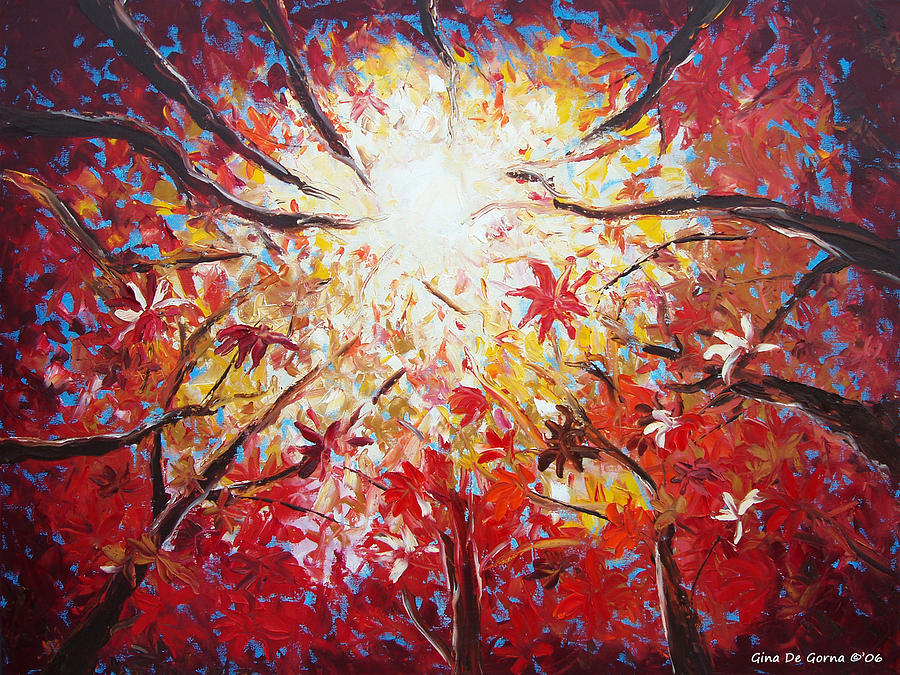 Red Painting - High Red by Gina De Gorna