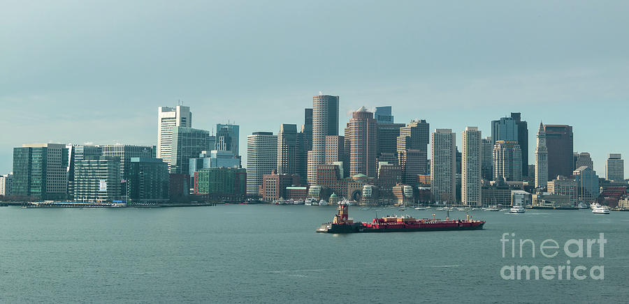Bay Photograph - High Resolution Panoramic Of Downtown Boston During The Day by PorqueNo Studios