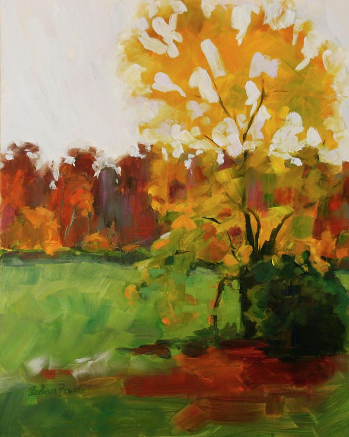 Autumn Painting - High Ridge Downpour by Barbara Jones
