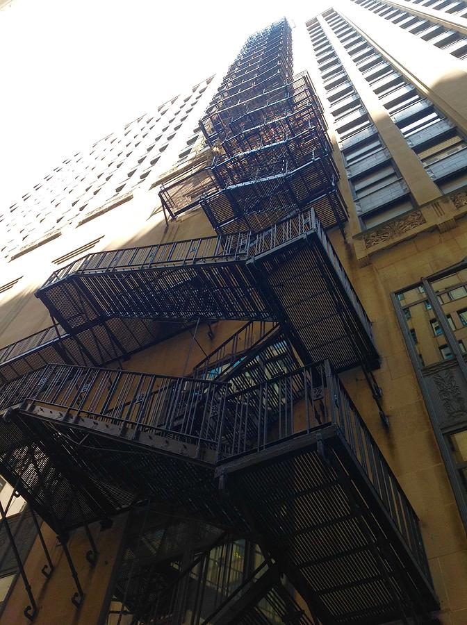 Fire Escape Photograph - High Rise Escape by Jacqueline Manos