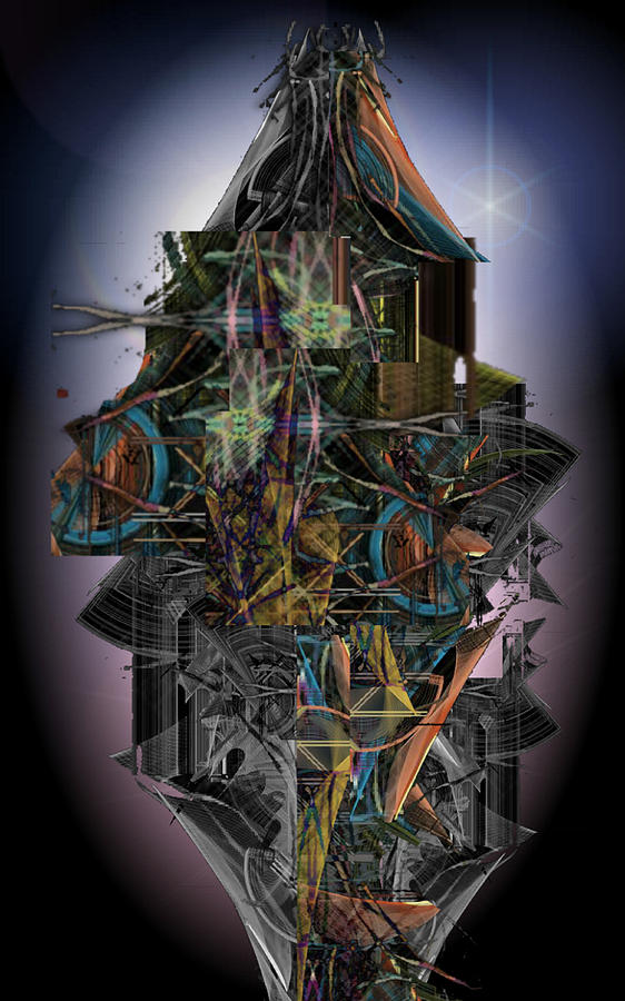 Abstract Digital Art - High Rise Living In The New City by ReeNee Cummins