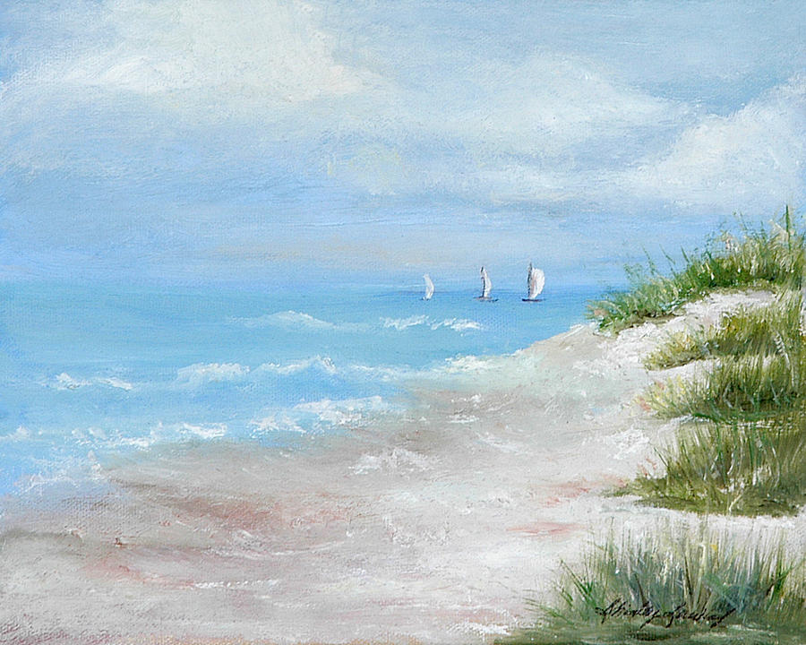 Seascape Painting - High Sails by Shirley Lawing