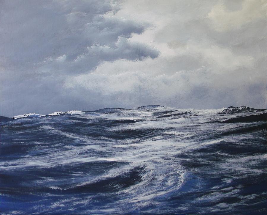 Seascape Painting - High Seas  by Dj Khamis