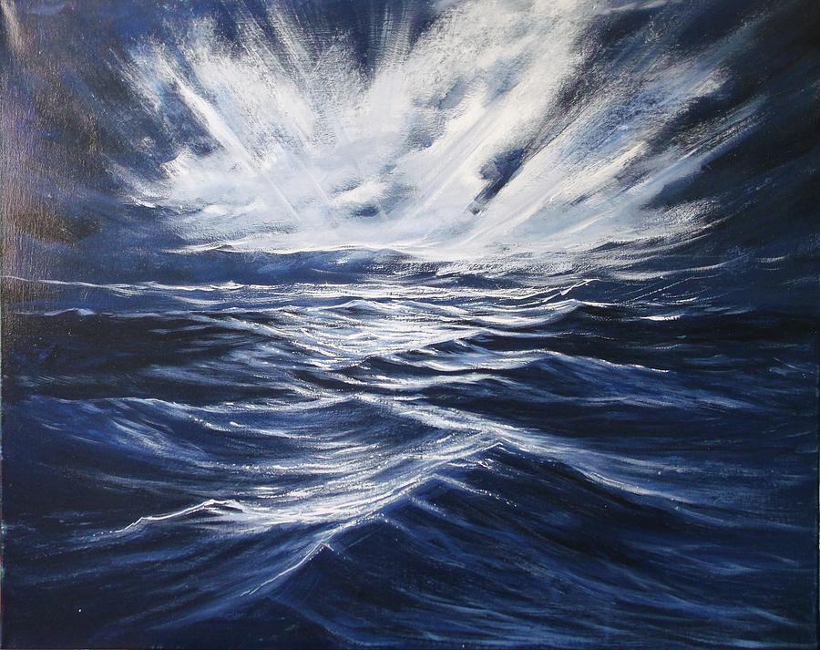 Moonlight Painting - High Seas II by Dj Khamis