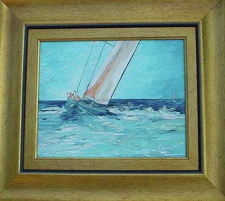 Blue Painting - High Seas by Margaret Carson
