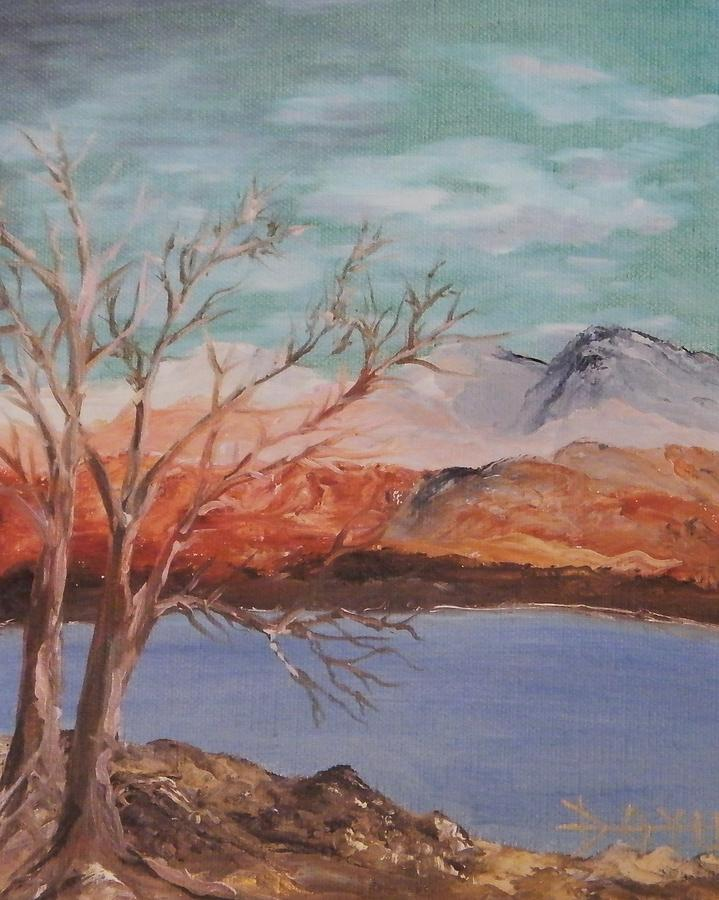 High Sierra Lake Painting by Larry Doyle