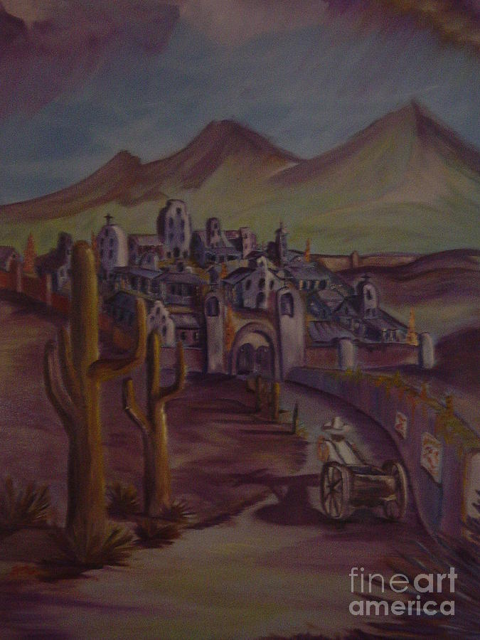 Landscape Painting - High Sierra Pueblo Part 1 by Scott Zbryk