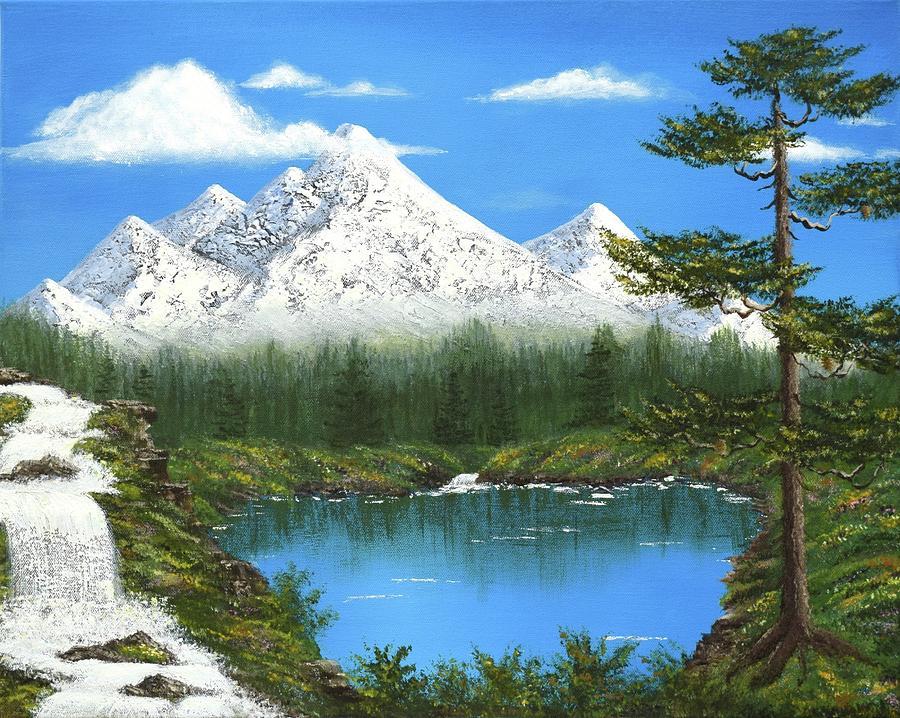 Mountains Painting - High Sierras Lake by Larysa Kalynovska