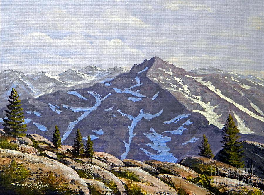 Frank Wilson Painting - High Sierras Study by Frank Wilson