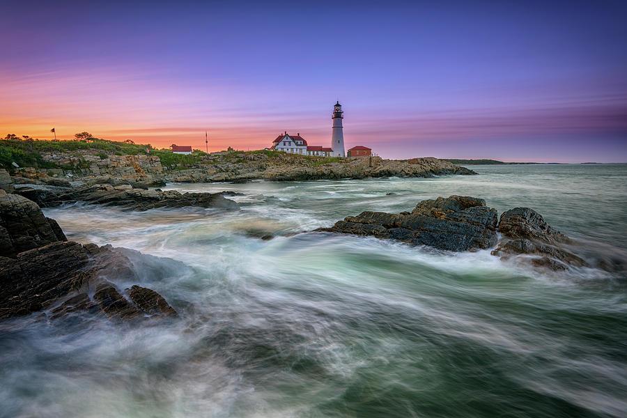 Portland Head Lighthouse Photograph - High Tide At Portland Head Lighthouse by Rick Berk
