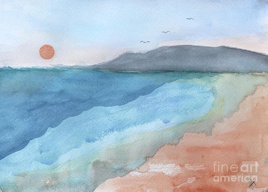 Watercolor Painting - High Tide by Chloe Archer