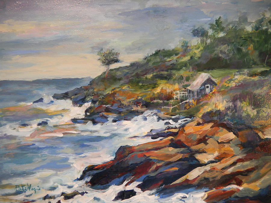 Rocks Painting - High Tide by Pati Maguire