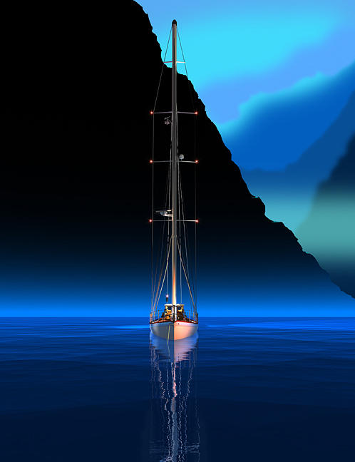 Sailboat Digital Art - High Tide by Stephen Harlan