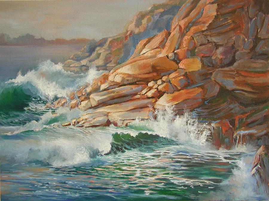 High Tide Painting by Virginia Larrea LaTourrette
