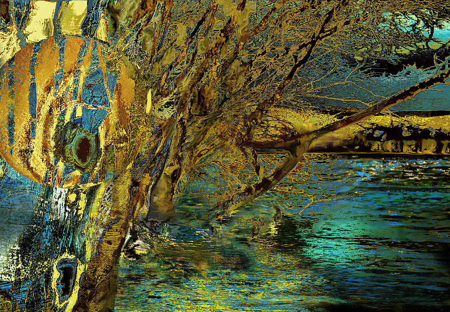 River Painting - High Water In The Meadows by Anne Weirich