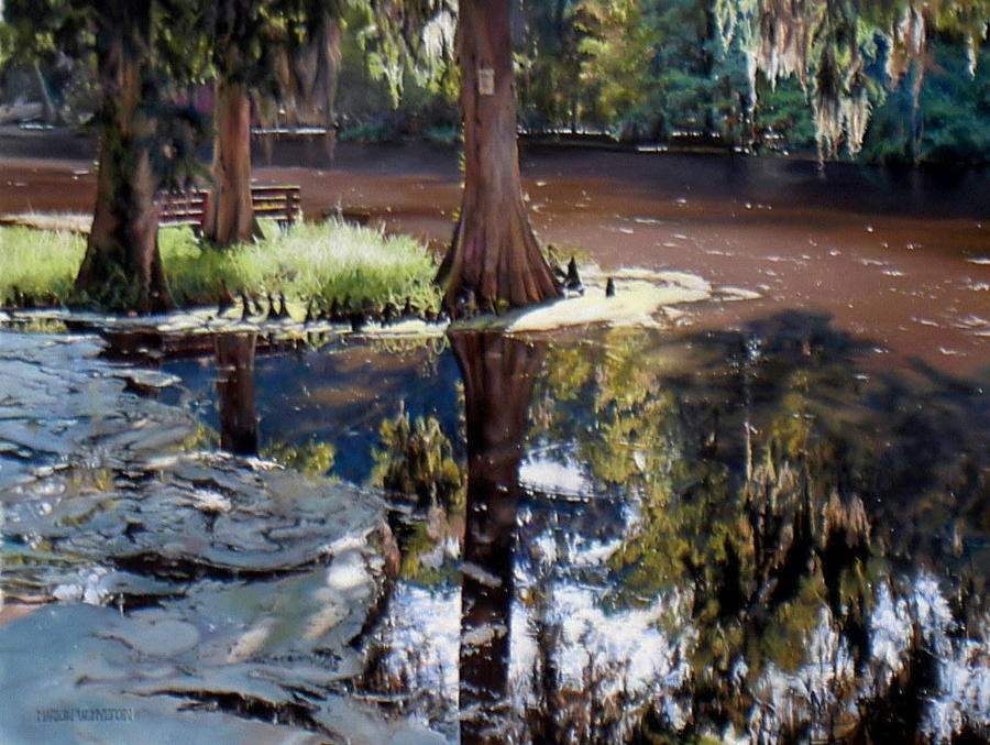 Water Painting - High Water by Marion  Hylton