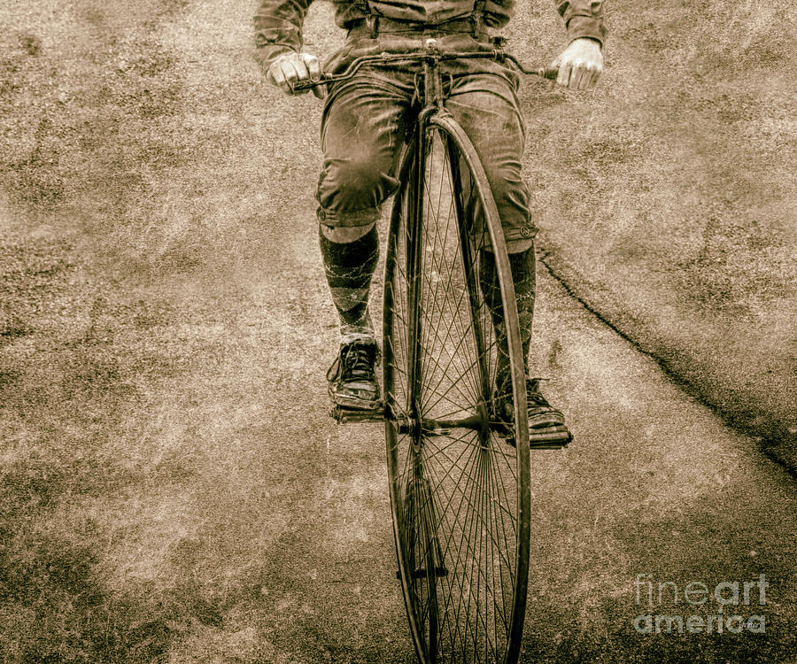 Penny-farthing Photograph - High Wheeling In Vintage Time  by Steven Digman