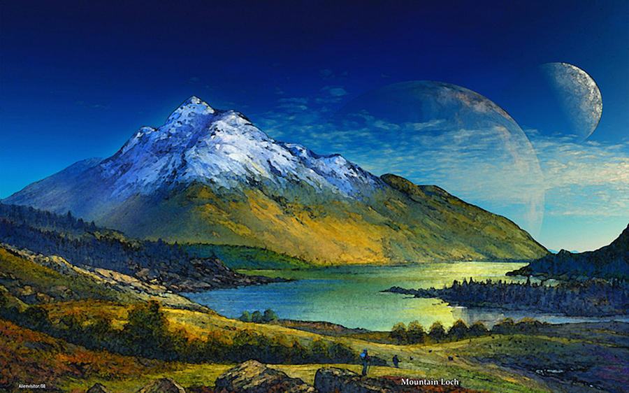 Highland Home Digital Art by David Jackson
