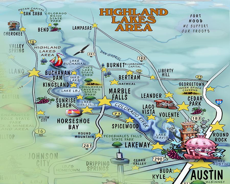 Highland Lakes Area Digital Art
