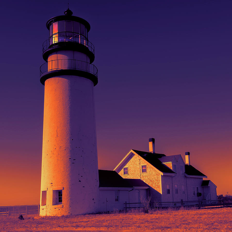Highland Light, Truro Lighthouse Cape Cod by Dapixara Art