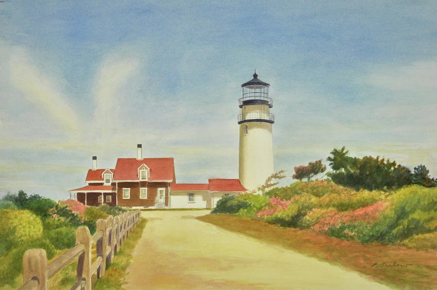 Lighthouse Painting - Highland Lighthouse Cape Cod by Phyllis Tarlow