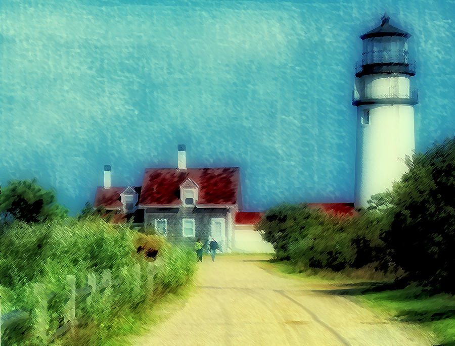 Lighthouse Photograph - Highland Lighthouse II by Gina Cormier