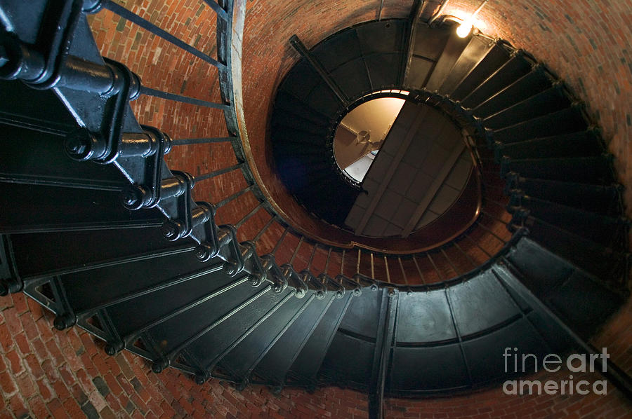 Cape Cod National Seashore Photograph - Highland Lighthouse Stairs Cape Cod by Matt Suess