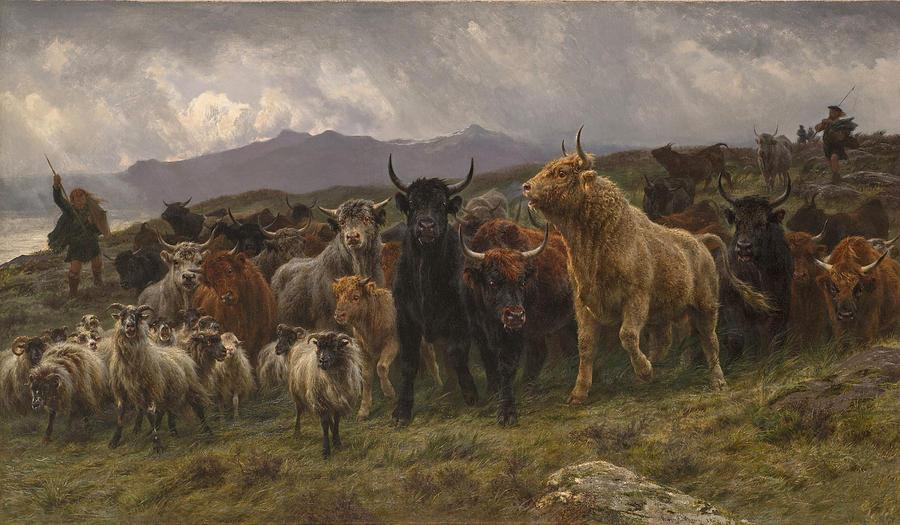 Highland Raid Painting by Rosa Bonheur