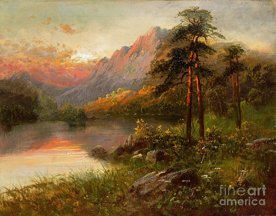 Highland Solitude Painting By Frank Hider