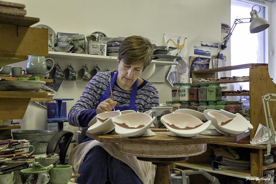 Highland Stoneware Photograph - Highland Stoneware Artist At Work by Fran Gallogly