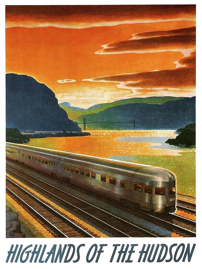 Highlands Painting - Highlands Of Hudson, Railway, Train by Long Shot