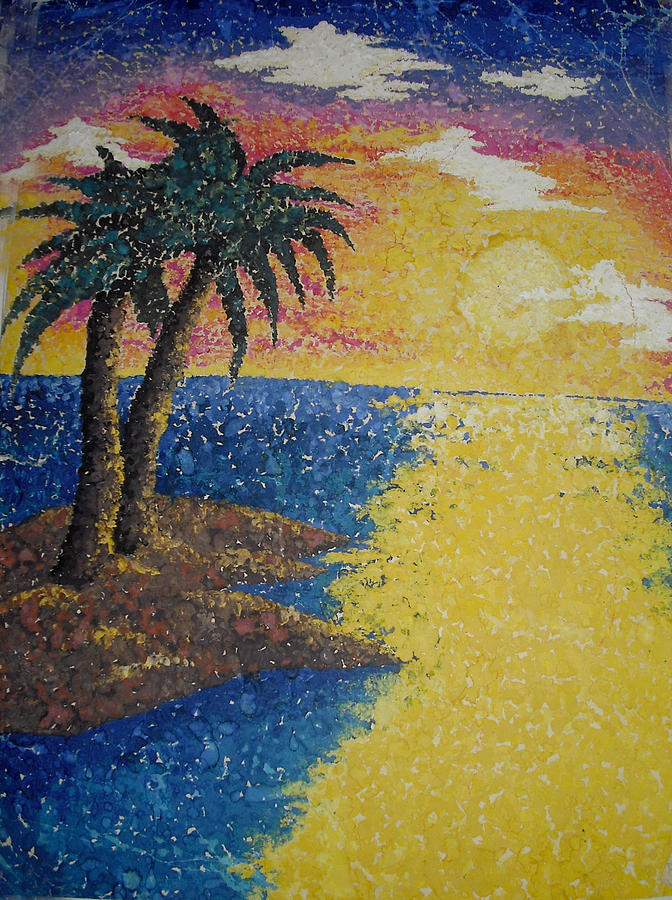 Highschool Sunset Painting by Renee Alina Barela