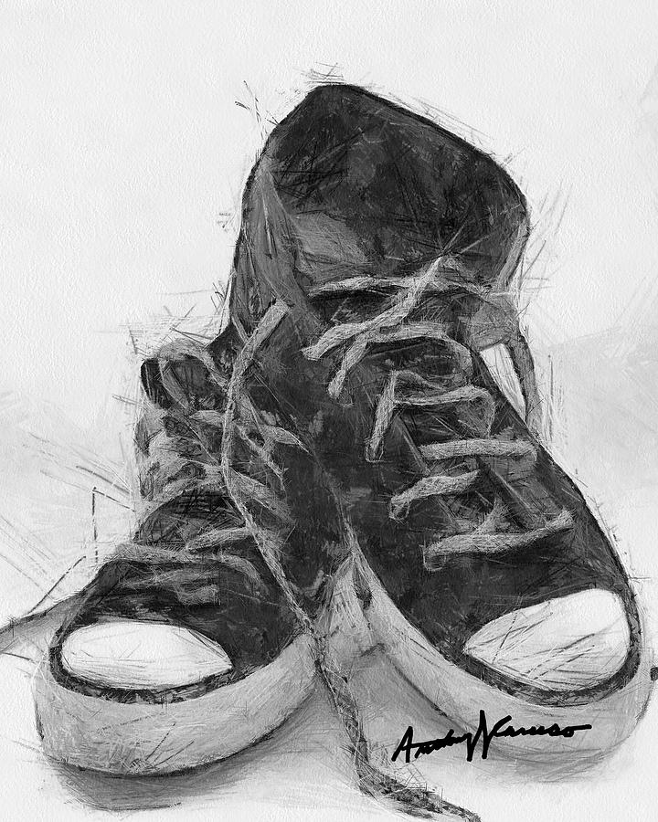 Sneakers Digital Art - Hightops by Anthony Caruso