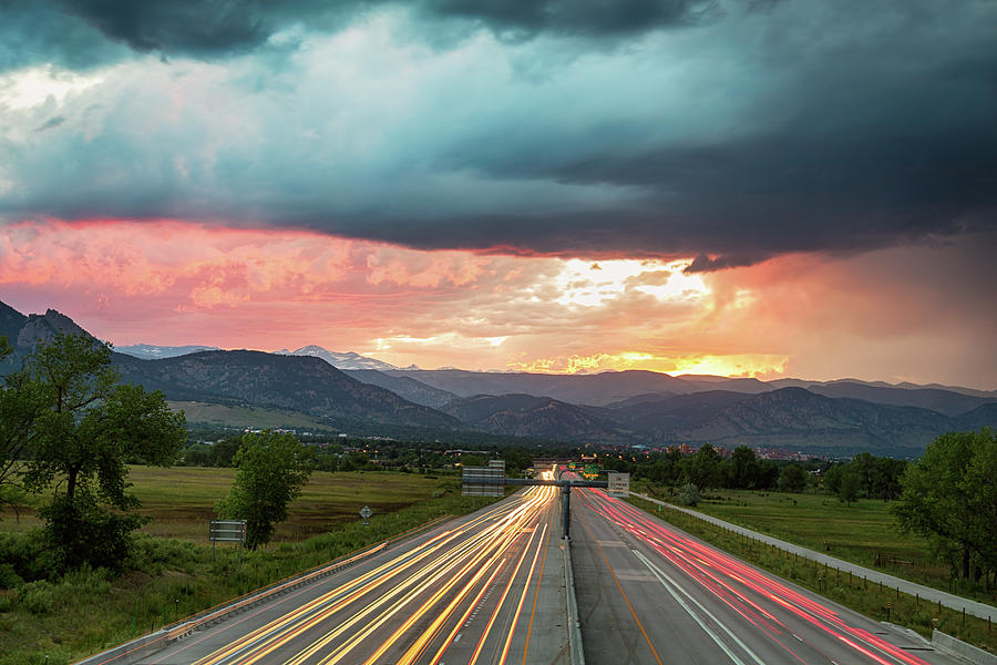 Boulder Colorado Photograph - Highway 36 To Beautiful Boulder Colorado by James BO Insogna