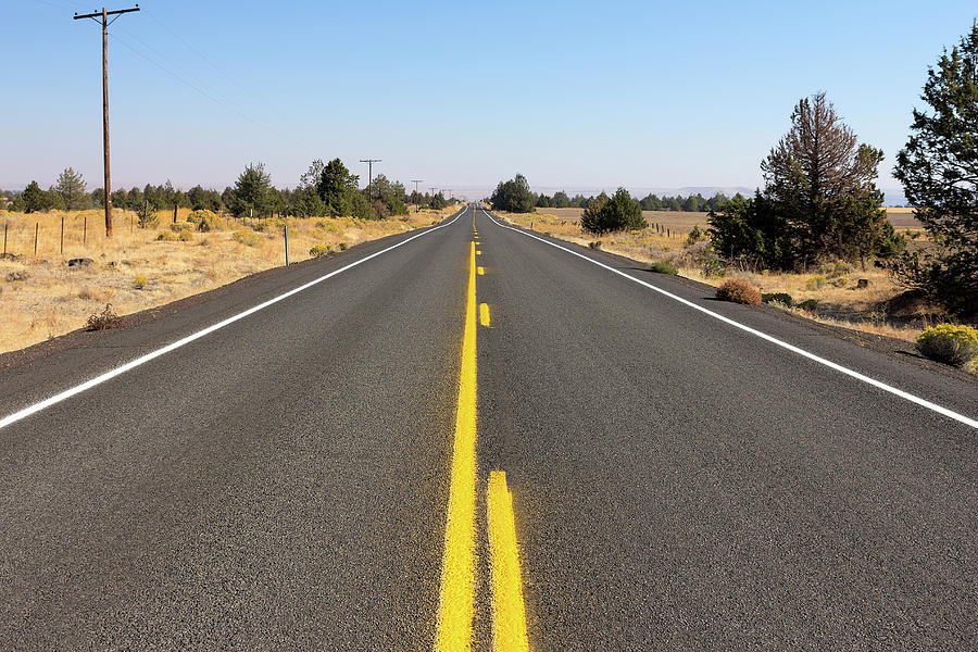 Highway Photograph - Highway In Central Oregon by David Gn