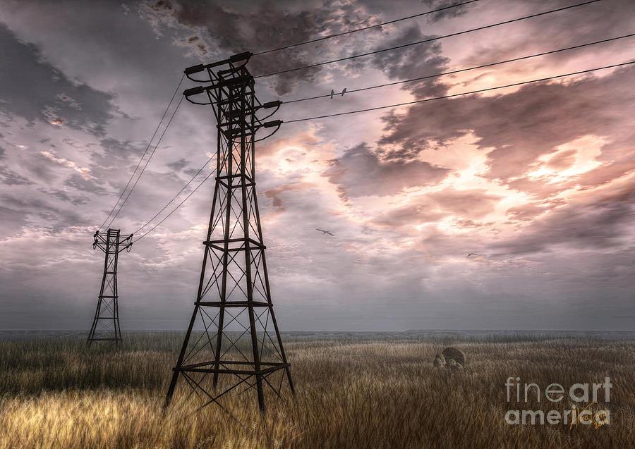 Nature Digital Art - Highwire by Alina Davis