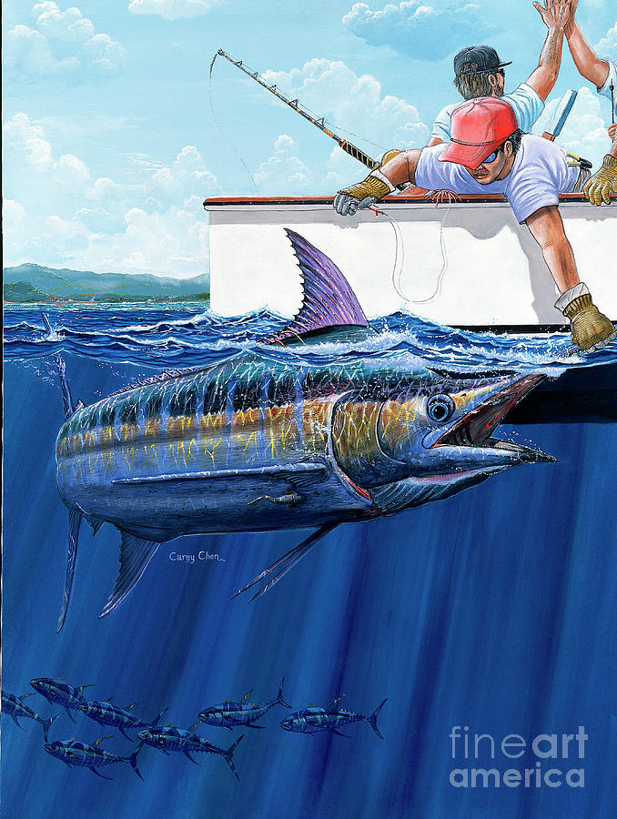 Marlin Painting - Hign Fives by Carey Chen