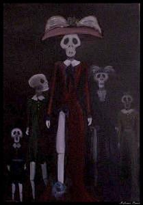 Oils Painting - Hijas De Los Muertos  by Melissa Bond