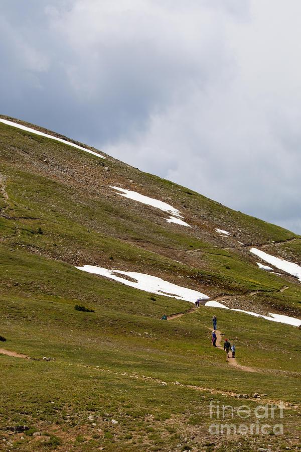 Hikers On Cottonwood Pass Colorado Photograph