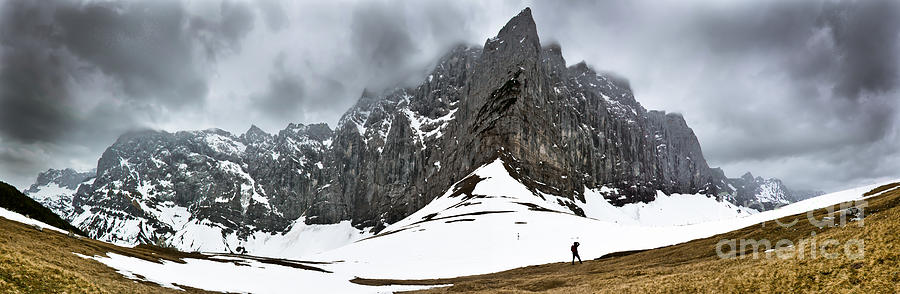 Hiking in the Alps by John Wadleigh