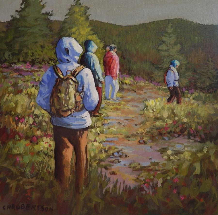 Hiking The Paintbrush Trail, Manning Provincial Park, B. C., Revisited Painting by Catherine Robertson