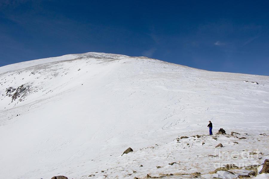 Hiking To Summit Of Mount Elbert Colorado In Winter Photograph