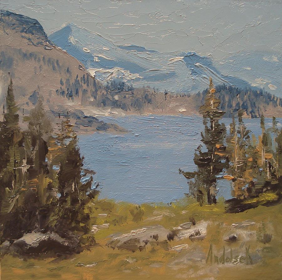 Landscape Painting - Hiking Yosemite by Barbara Andolsek
